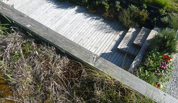 Timber Deck Grass Roof